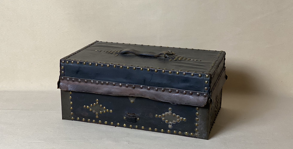 Very Nice Antique Leather Document Box