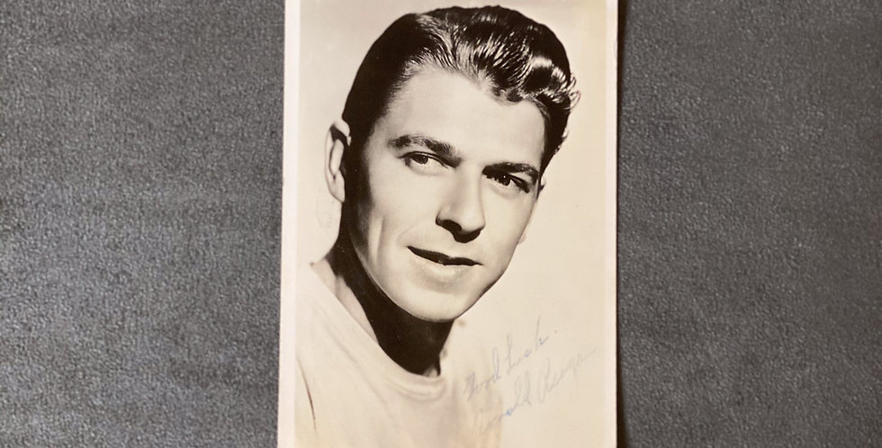 Original 1942 Ronald Reagan Autograph from movie studio
