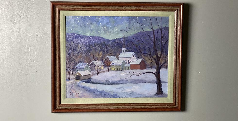 Winter Vermont Painting by Erik R. Minzner