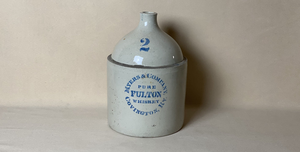 Antique Stoneware Whiskey Jug signed Myers & Company