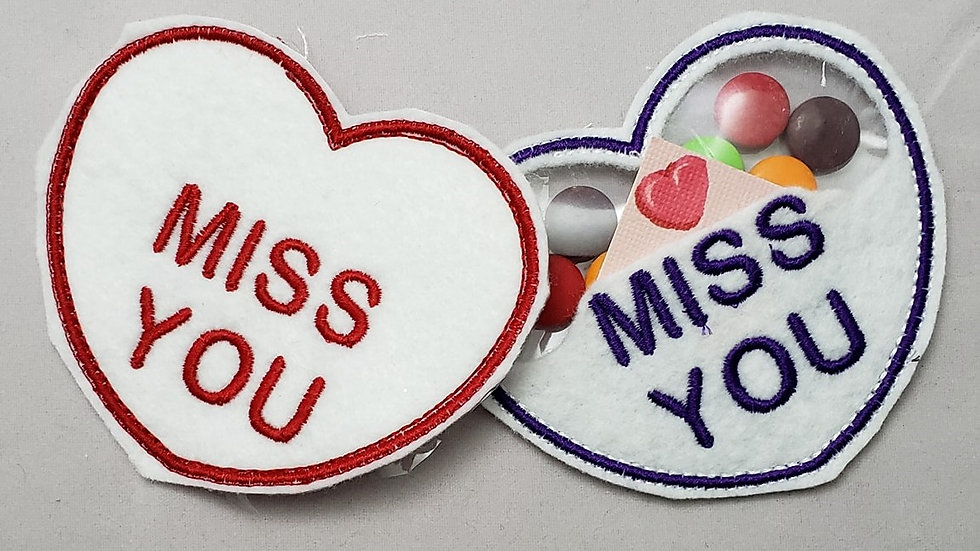 Conversation Hearts Candy Holder Miss You Digital File