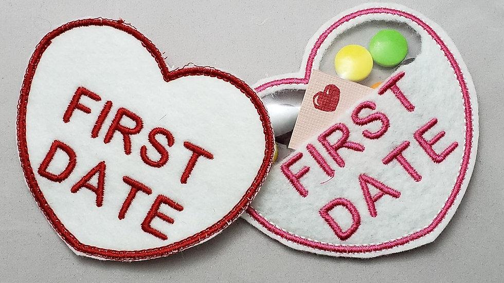 Conversation Heart Candy Holder- First Date Digital File