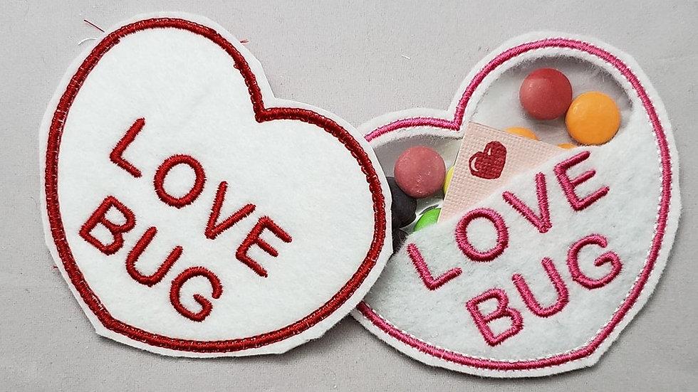 Conversation Hearts Candy Holder Love Bug Digital File