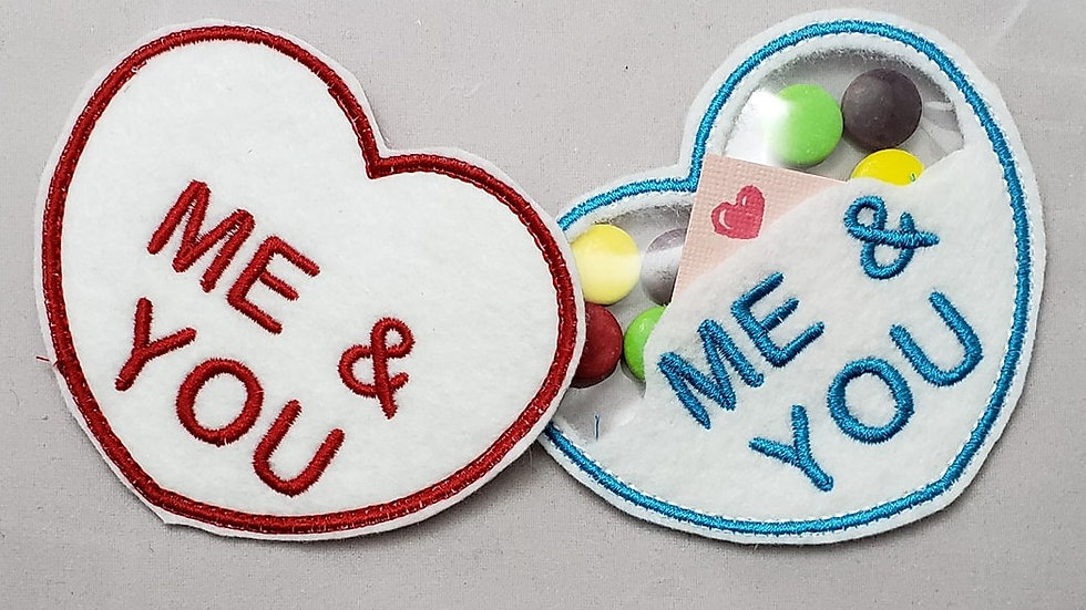 Conversation Hearts Candy Holder Me & You Digital File