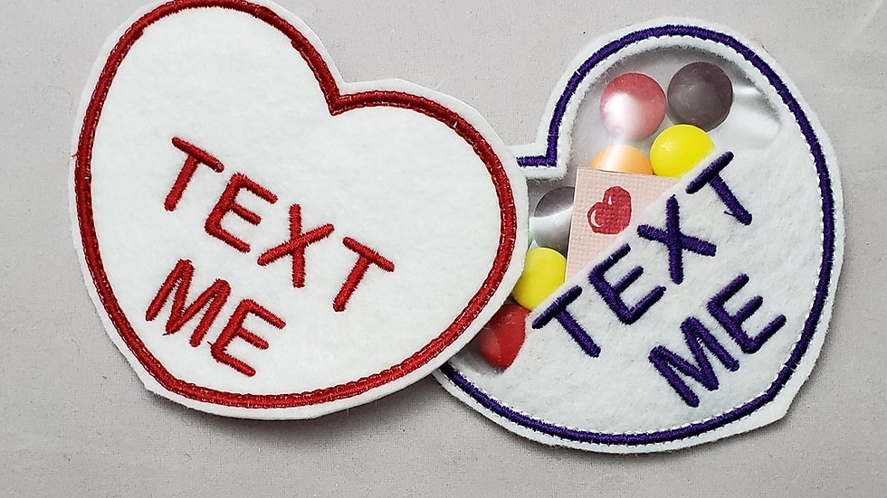 Conversation Hearts Candy Holder Text Me Digital File