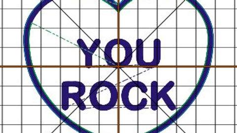 Conversation Hearts Candy Holder You Rock Digital File