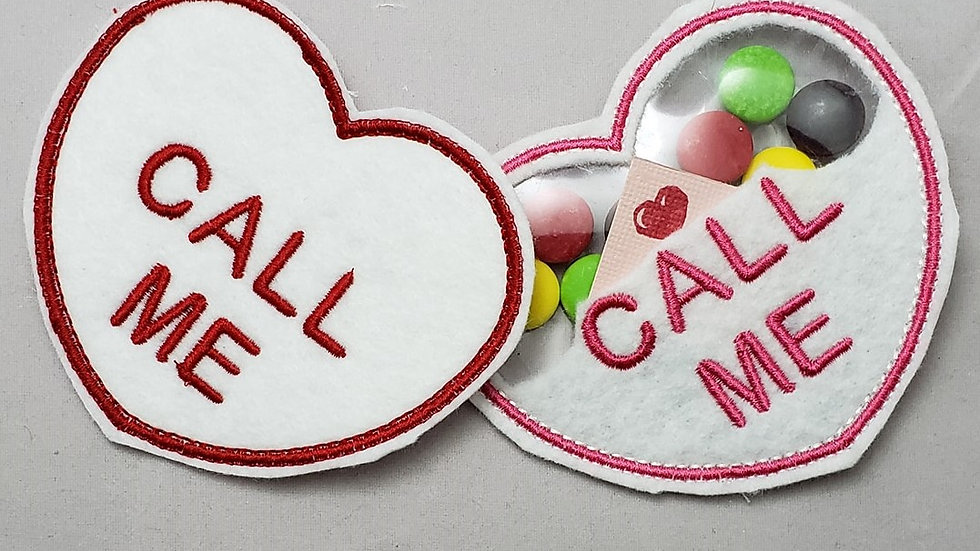 Conversation Hearts Candy Holder Call Me Digital File