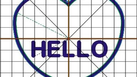 Conversation Hearts Candy Holder Hello Digital File