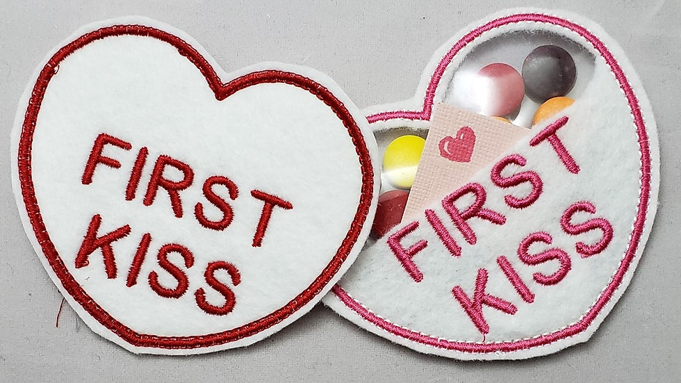 Conversation Hearts Candy Holder First Kiss Digital File