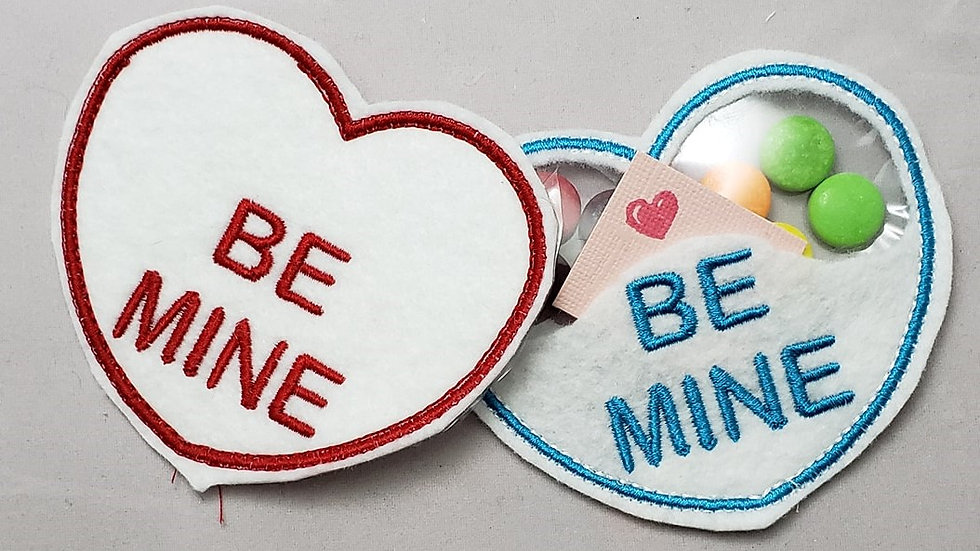 Conversation Hearts Candy Holder Be Mine Digital File