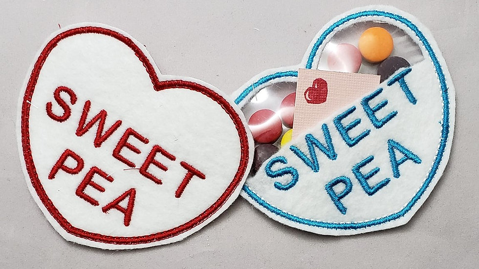 Conversation Hearts Candy Holder Sweet Pea Digital File