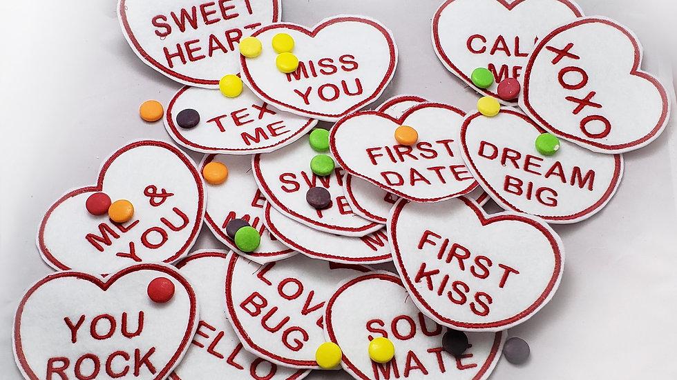 Full Pack Conversation Heart Candy Holder- Digital File