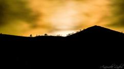Coucher de lune dans les Cévennes Ardéchoise