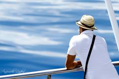 sur un bateau enter Barcelone et Tanger