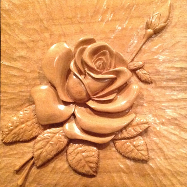 'A rose for Linda' butternut relief