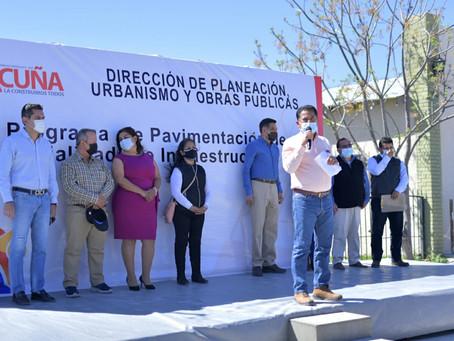 INCLUYEN A LA COLONIA 28 DE JUNIO EN LOS PROYECTOS DE PAVIMENTACIÓN.