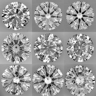 Diamond clarity is expressed on a range of 7