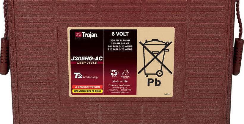 Тяговый аккумулятор Trojan J305HG-AC