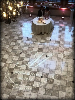 Monogram on Marble Floor in NJ