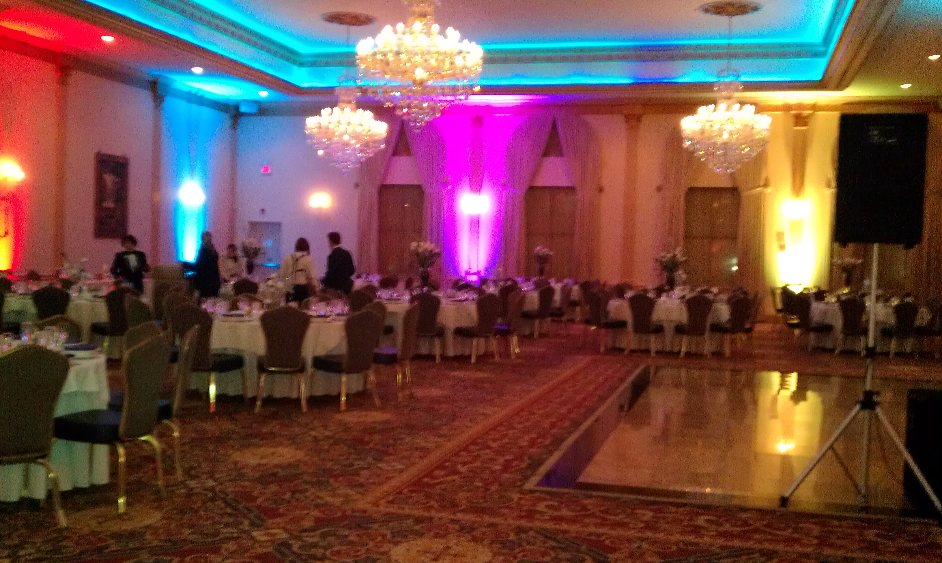 Wedding with uplighting