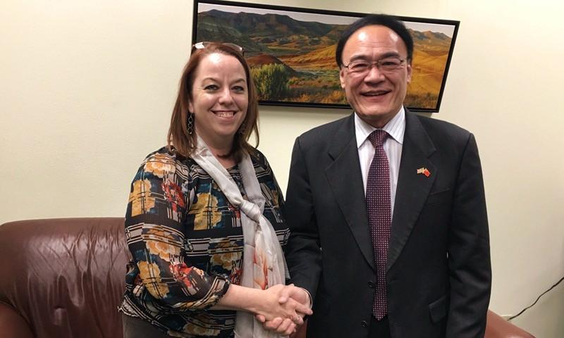 Chinese Consul General Donghua Wang visit