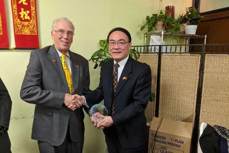 State Representative Jeff Barker and Consul General Wang Donghua