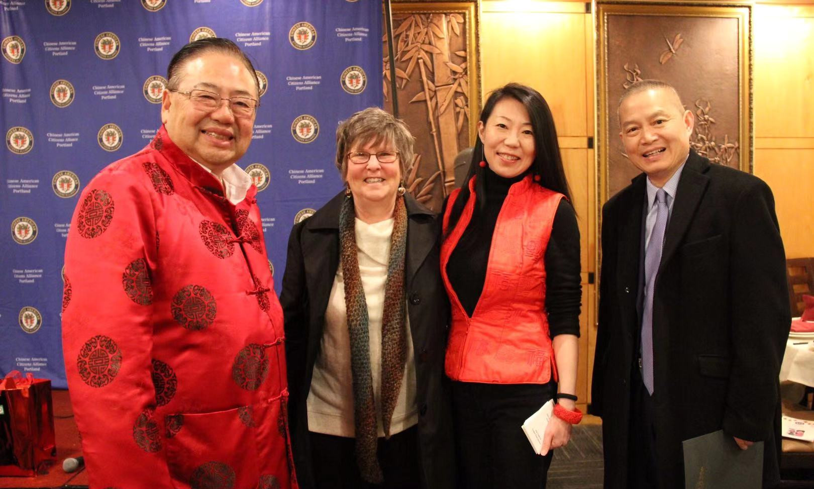 (l-r) OCC's Stephen Ying, Jennifer Reed, Chin Ma and Jin Lan.