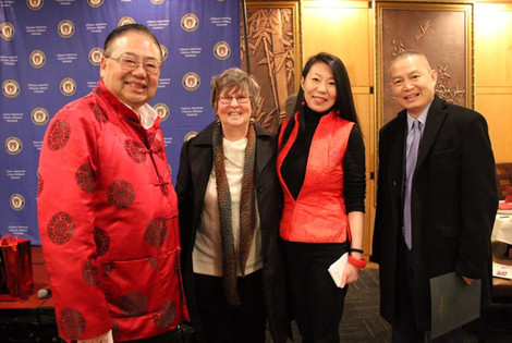 (l-r) OCC Vice President Stephen Ying, OCC Secretary Jennifer Reed, OCC Board member Chin Ma and OCC President Jin Lan.