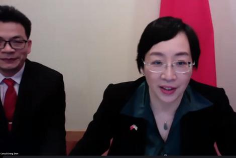 Chinese Education Counsellor Jun Tang & Consul Cheng