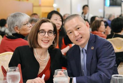 Governor Kate Brown and OCC President Jin Lan