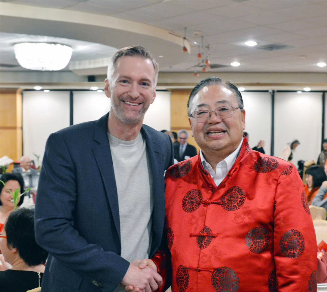 Portland Mayor Ted Wheeler and OCC Vice President Stephen Ying.