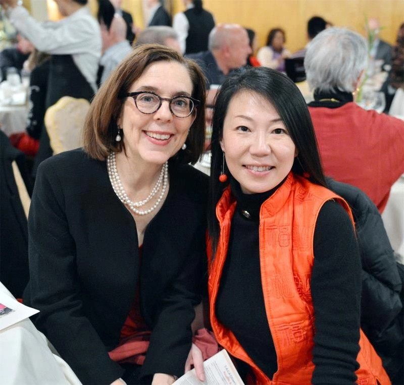 Governor Kate Brown and OCC's Chin Ma.
