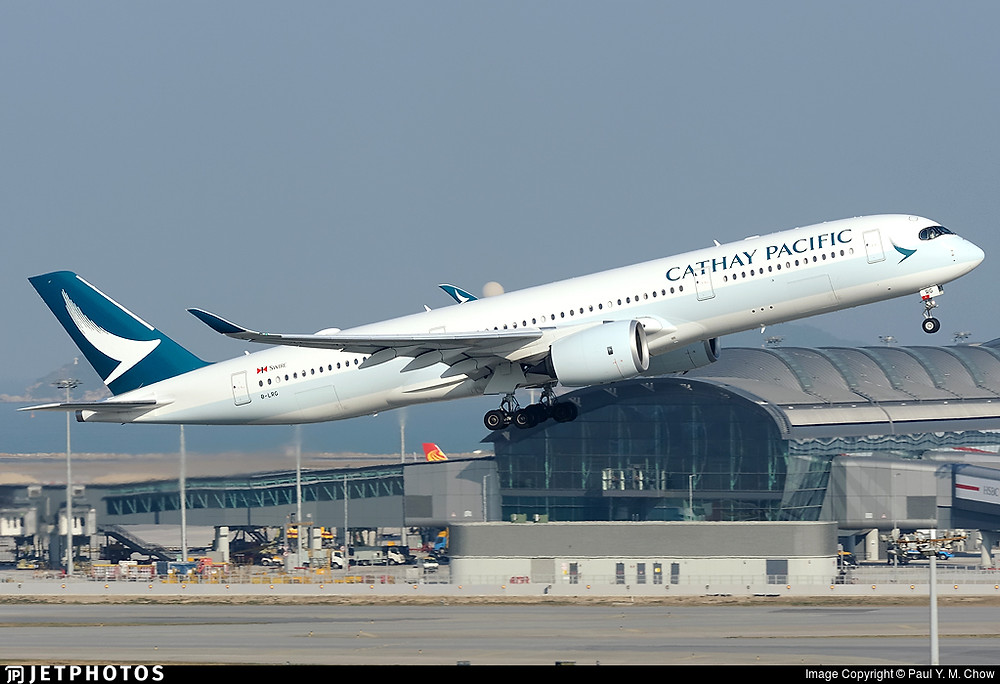 CATHAY 691 is blasting off and heading to Singapore in the morning.
