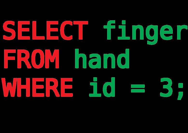 {middle finger}