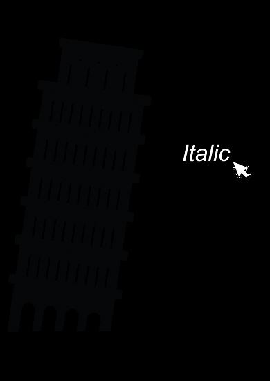 /italic/