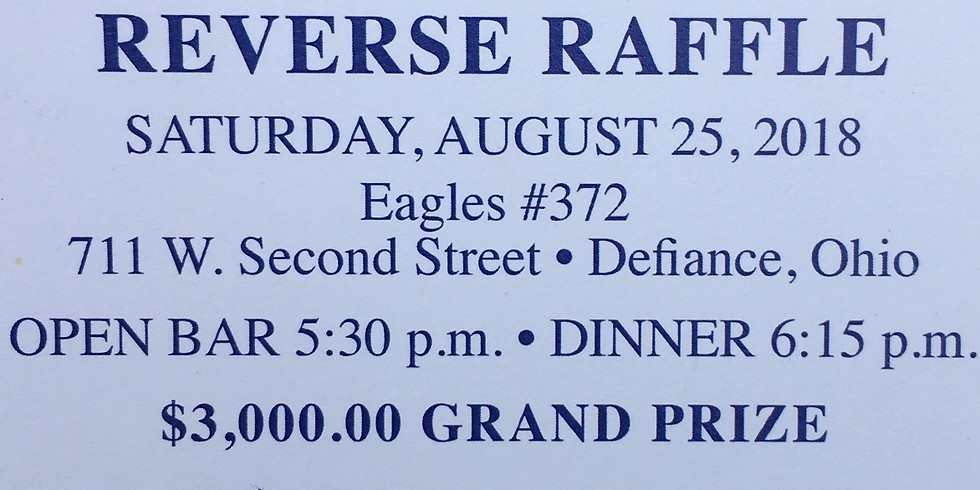 DEFIANCE ATHLETIC BOOSTERS REVERSE RAFFLE