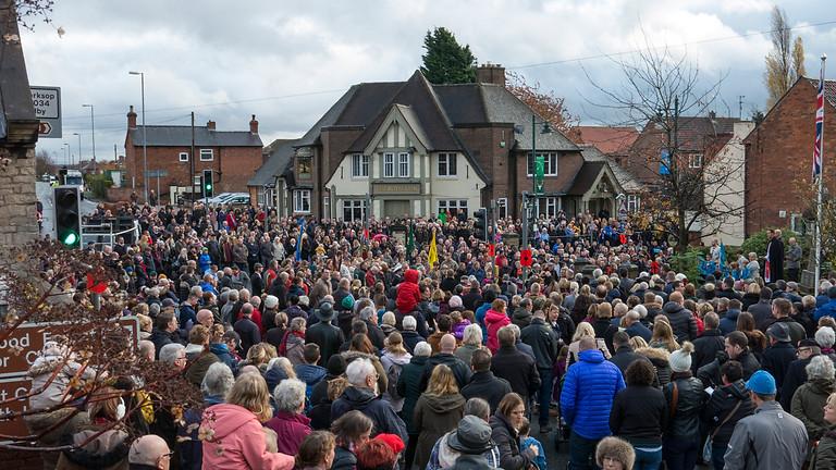 Edwinstowe Remembrance Parade