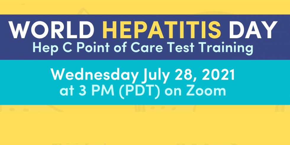 World Hepatitis Day 2021: Virtual Point of Care Test Training