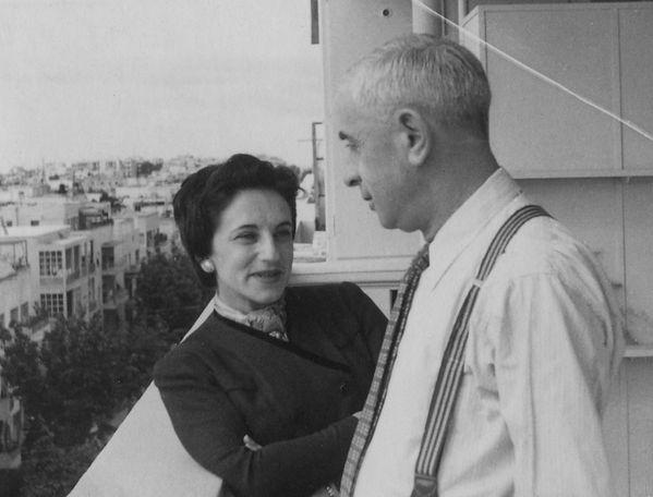 פנחס לבון ואשתו לוסי אלשטיין