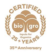 25 plus years biogro snipped logo.PNG