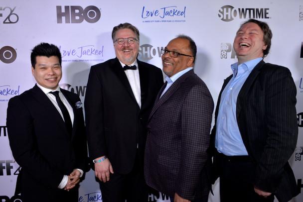 Love Jacked Premiere  Sidney Chiu, Michael  Auret, Alfons Adetuyi and Steve London