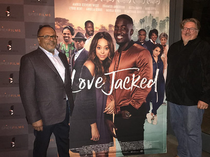 Alfons Adetuyi and Michael Auret at Love Jacked screening at Durban International Film Festival