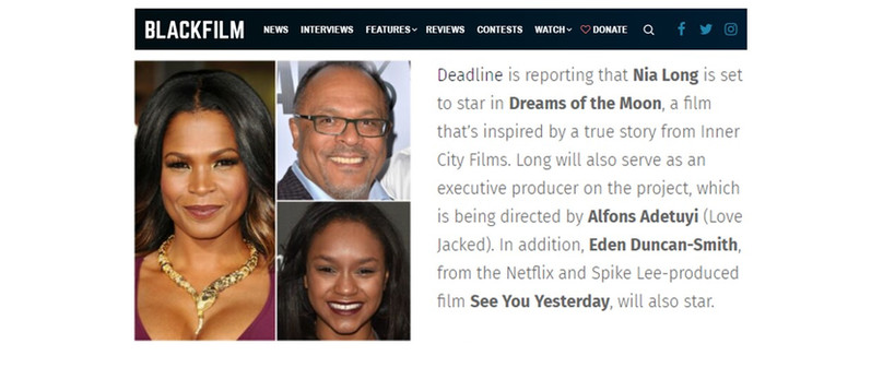BlackFilm.Com: Nia Long and Eden Duncan-Smith set to star in Director Alfons Adetuyi's 'Dreams of the Moon'