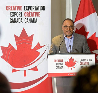 Alfons Adetuyi at Creative Export Canada Launch