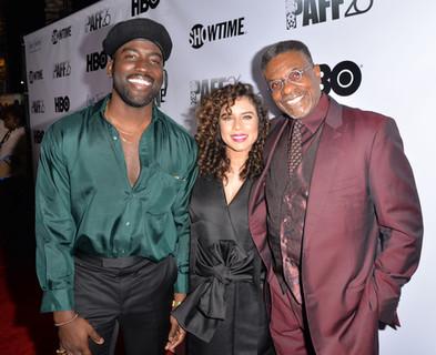 Love Jacked LA Premiere  Shamier Anderson, Nicole Lyn and Keith David