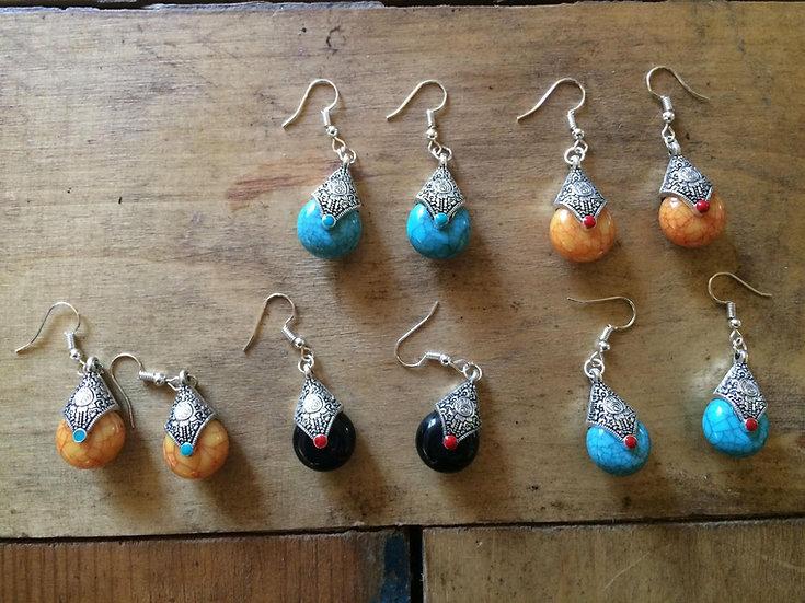 Boucles d oreilles tibetaines