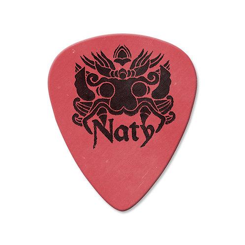 Naty Logo Delrin 1.00 Custom Pick Red