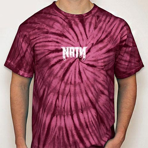 Original Logo Tie-Dye T-Shirts Maroon