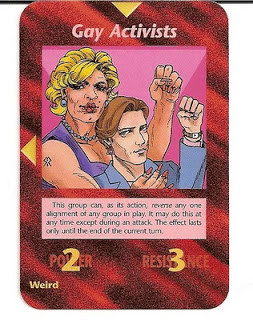 Carta do jogo illuminati - Ativismo gay