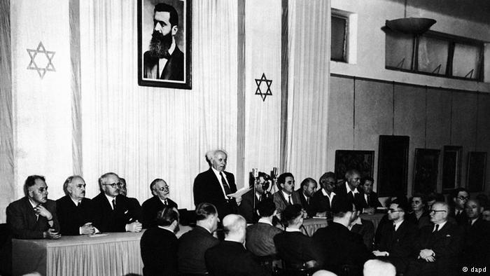 Assinatura da Declaração de Independência do Estado de Israel.